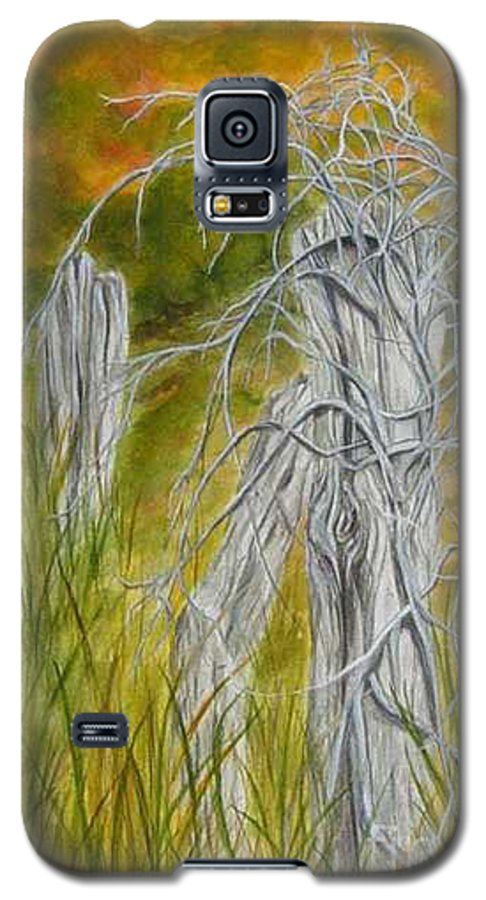 Landscape Galaxy S5 Case featuring the painting Twisted by Regan J Smith
