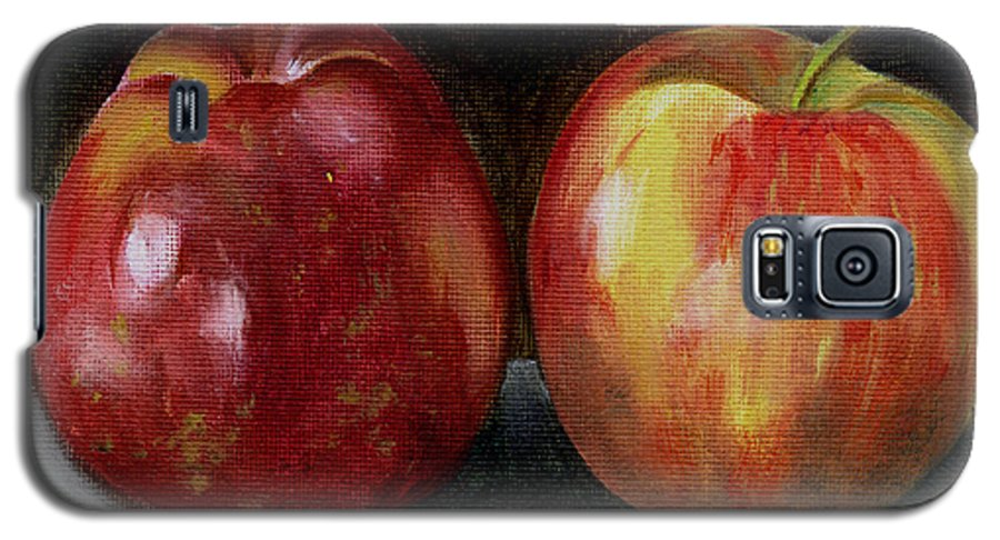 Oil Galaxy S5 Case featuring the painting Two Apples by Sarah Lynch