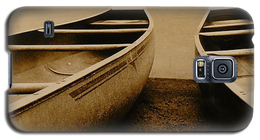 Canoes Galaxy S5 Case featuring the photograph Two Canoes by Jack Paolini
