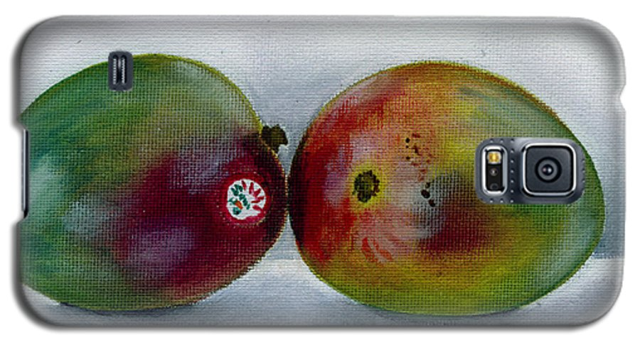 Still-life Galaxy S5 Case featuring the painting Two Mangoes by Sarah Lynch