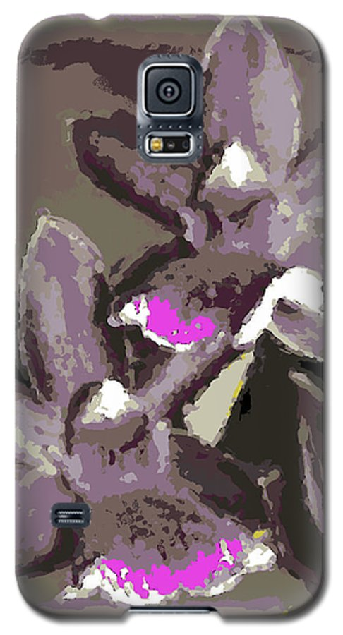Orchid Galaxy S5 Case featuring the photograph Two Orchids by Ann Tracy