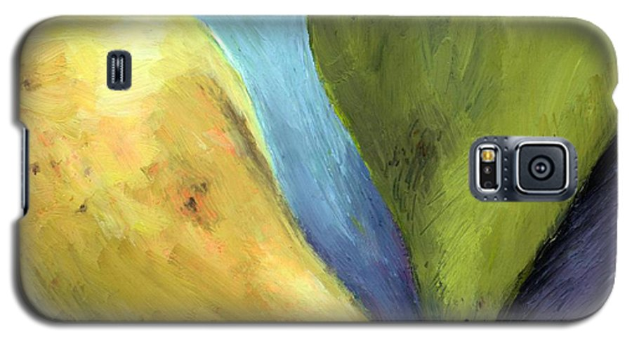Pear Galaxy S5 Case featuring the painting Two Pears Still Life by Michelle Calkins