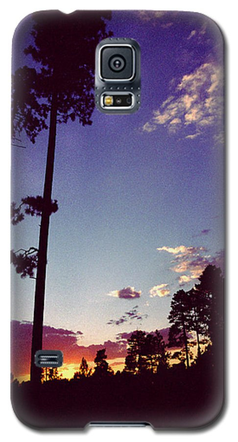 Arizona Sunset Galaxy S5 Case featuring the photograph Two Pines Sunset by Randy Oberg
