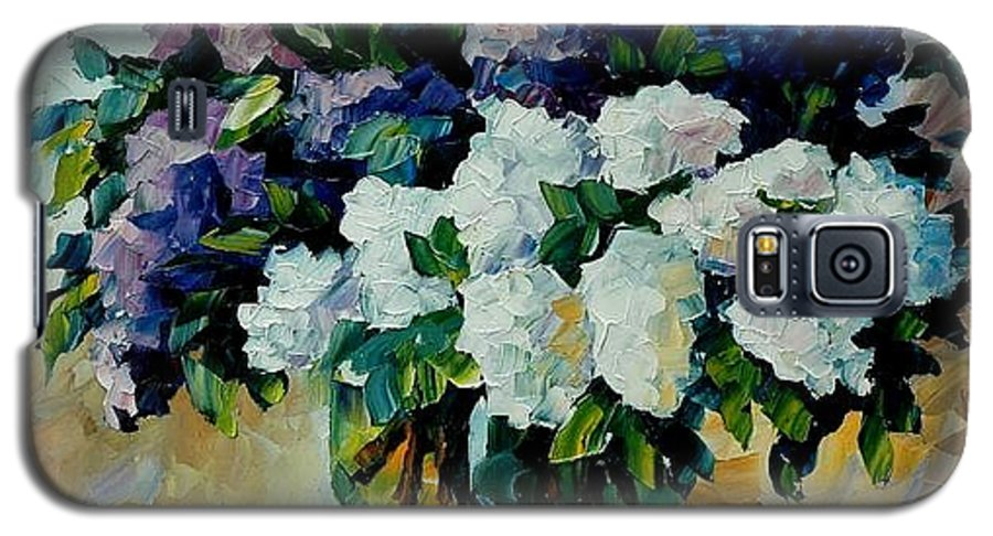 Painting Galaxy S5 Case featuring the painting Two Spring Colors by Leonid Afremov