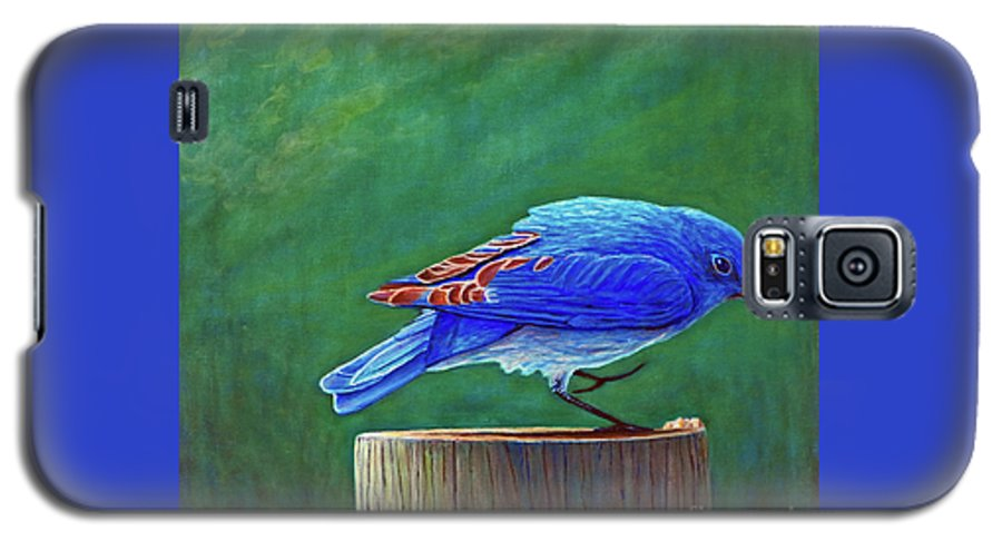 Bluebird Galaxy S5 Case featuring the painting Two Step by Brian Commerford