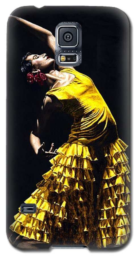 Flamenco Galaxy S5 Case featuring the painting Un Momento Intenso Del Flamenco by Richard Young