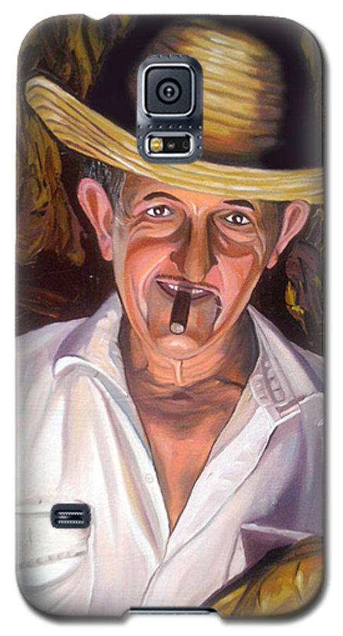 Cuban Art Galaxy S5 Case featuring the painting Uncle Frank by Jose Manuel Abraham