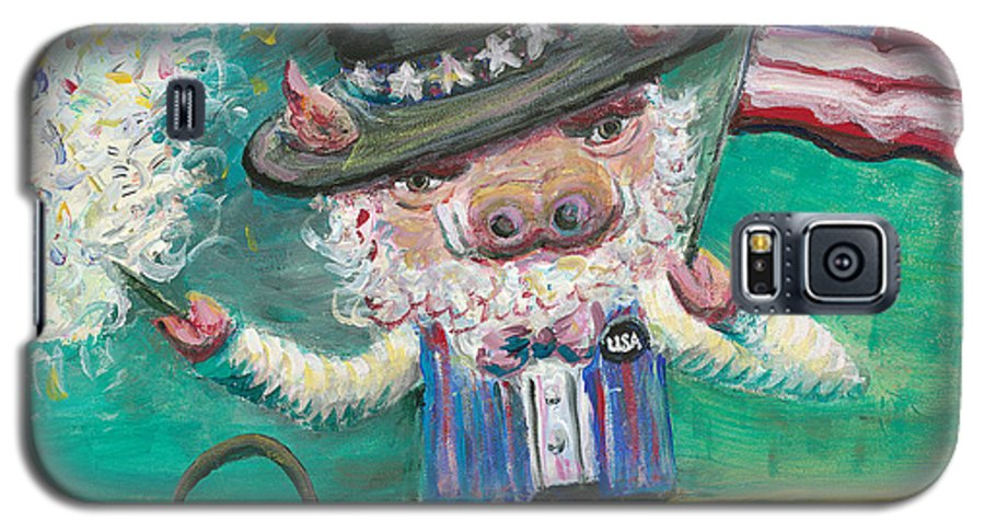 Fourth Of July Galaxy S5 Case featuring the painting Uncle Spam by Nadine Rippelmeyer