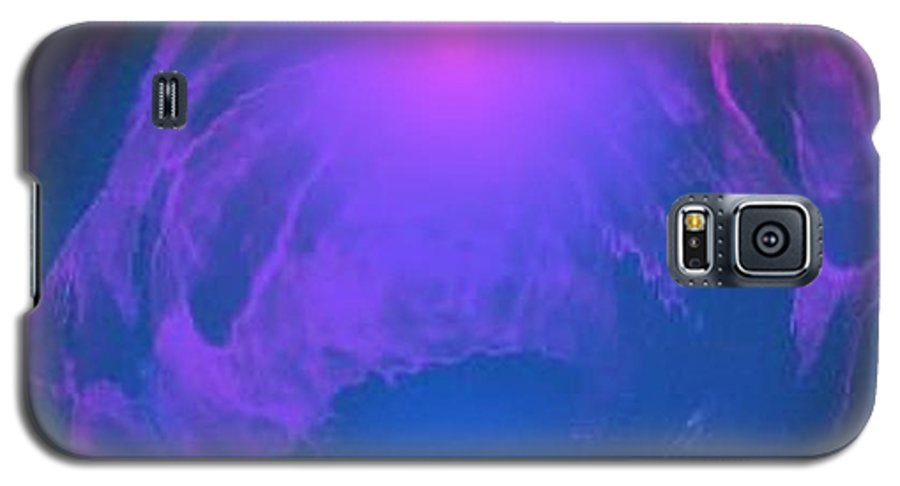 Water.underwater View.sun.colrs.blue.rose.grey.cold. Galaxy S5 Case featuring the digital art Underwater Kingdom by Dr Loifer Vladimir