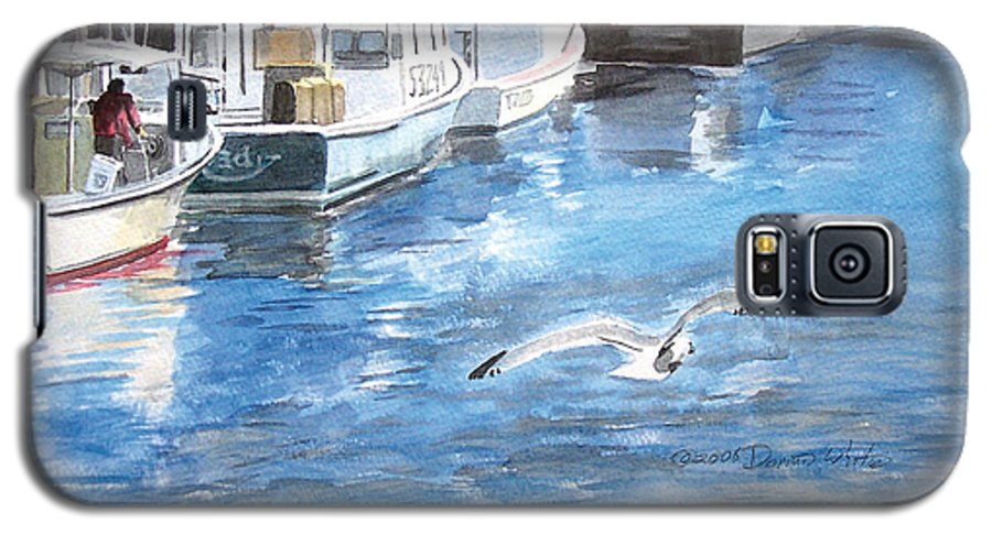 Seagull Galaxy S5 Case featuring the painting Union Wharf by Dominic White