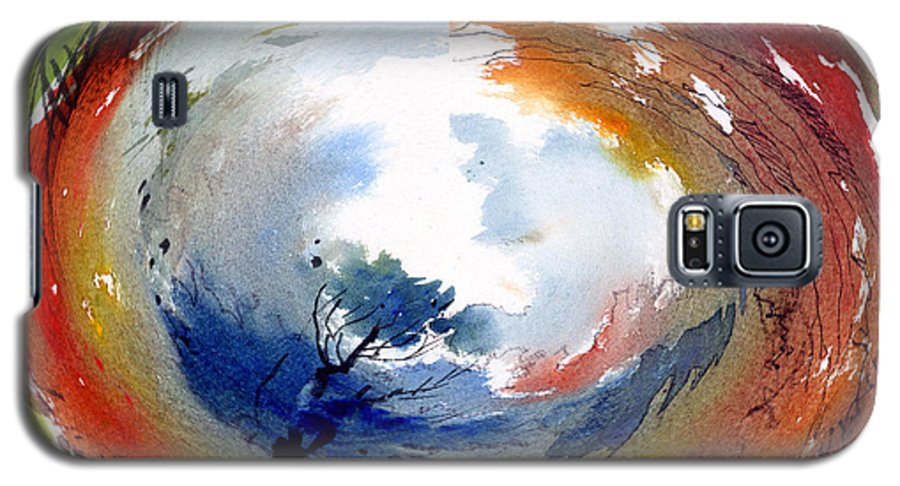 Landscape Water Color Watercolor Digital Mixed Media Galaxy S5 Case featuring the painting Universe by Anil Nene