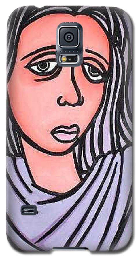 Portrait Galaxy S5 Case featuring the painting Unknown by Thomas Valentine
