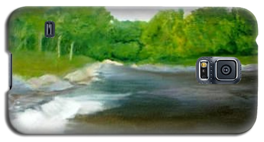 River Galaxy S5 Case featuring the painting Untitled Plein Aire by Sheila Mashaw