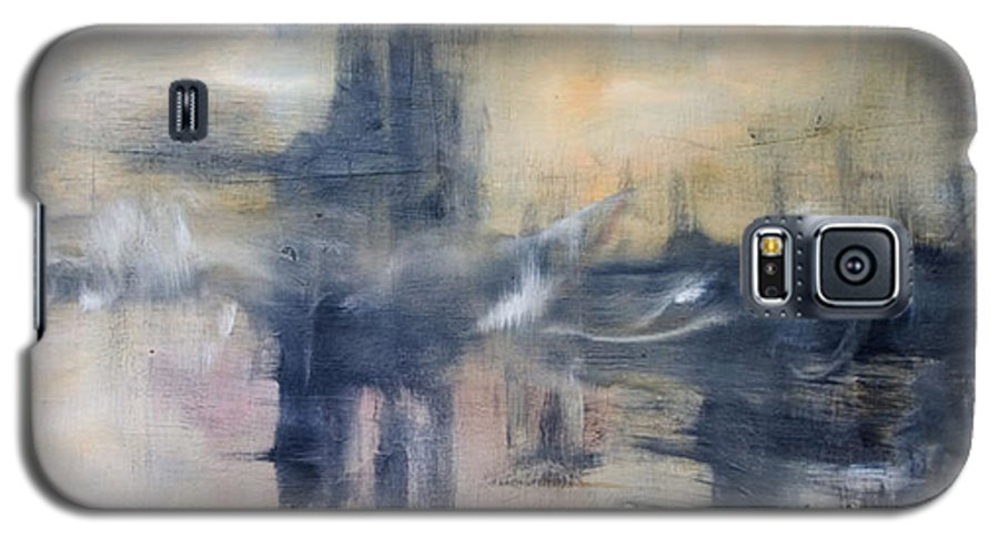 Cityscape Galaxy S5 Case featuring the painting Untitled by Shawnequa Linder