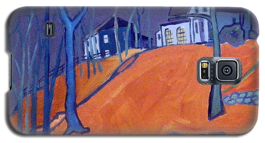 Houses On A Hill Galaxy S5 Case featuring the painting Up Above Dunstable by Debra Bretton Robinson