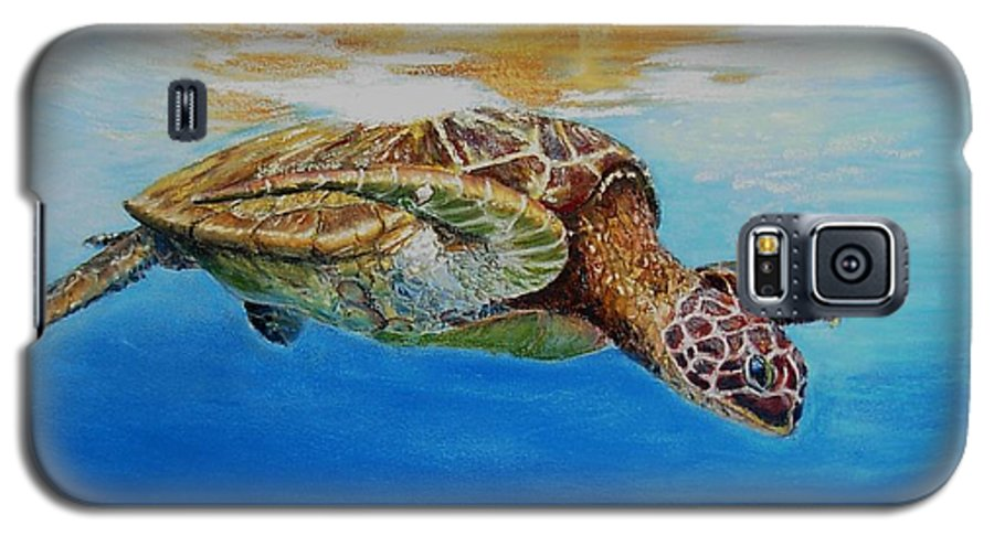Wildlife Galaxy S5 Case featuring the painting Up For Some Rays by Ceci Watson