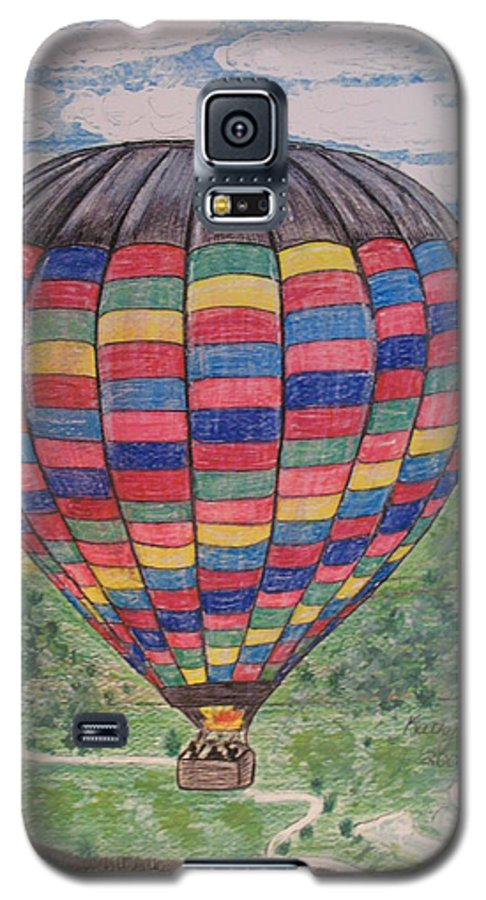 Balloon Ride Galaxy S5 Case featuring the painting Up Up And Away by Kathy Marrs Chandler