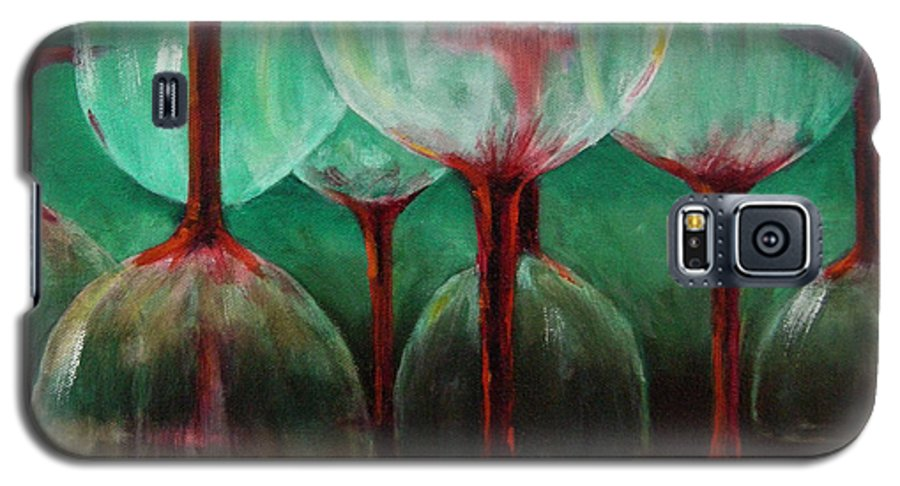Oil Galaxy S5 Case featuring the painting Upsidedown by Linda Hiller