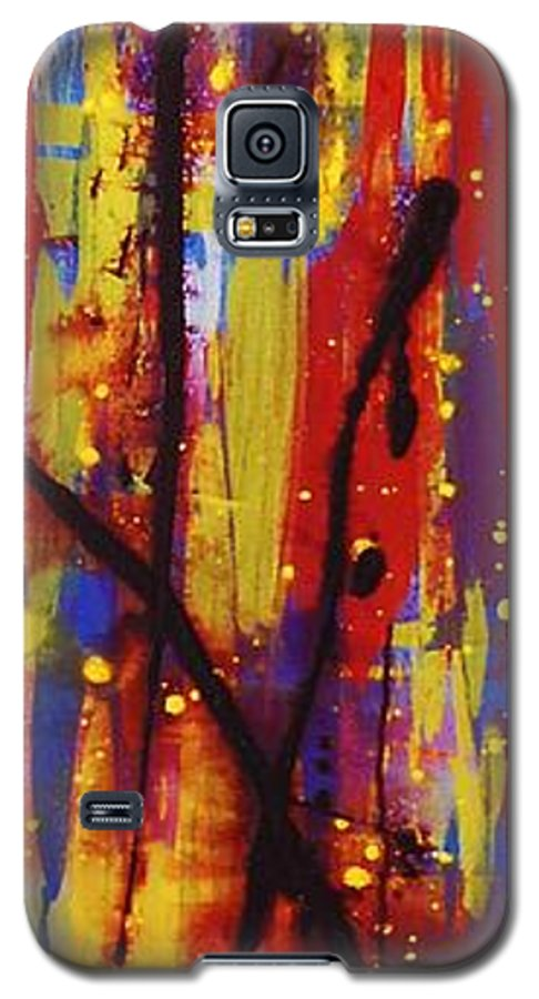 Abstract Galaxy S5 Case featuring the painting Urban Carnival by Lauren Luna