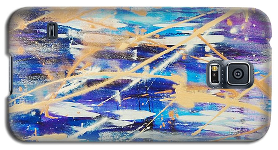 Abstract Galaxy S5 Case featuring the painting Urban Footprint by Lauren Luna