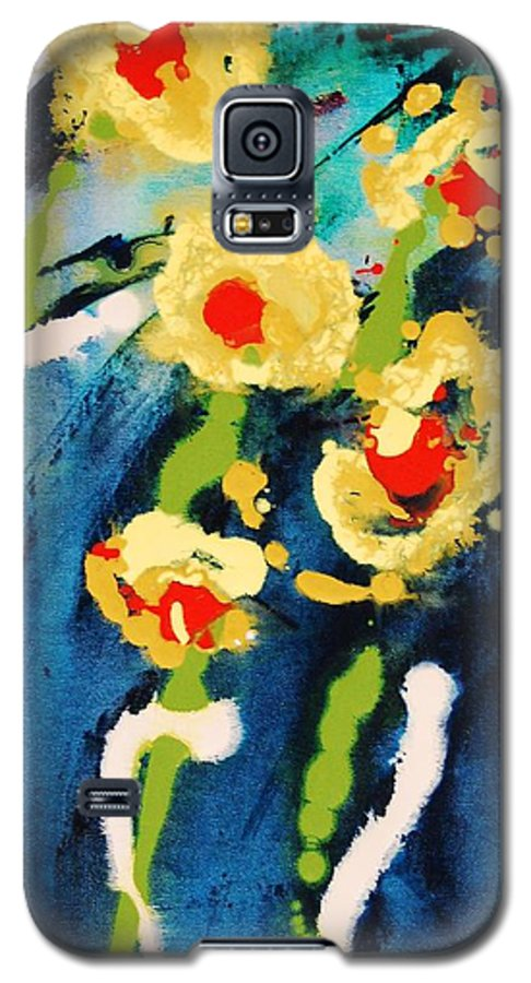 Abstract Galaxy S5 Case featuring the painting Urban Garden by Lauren Luna