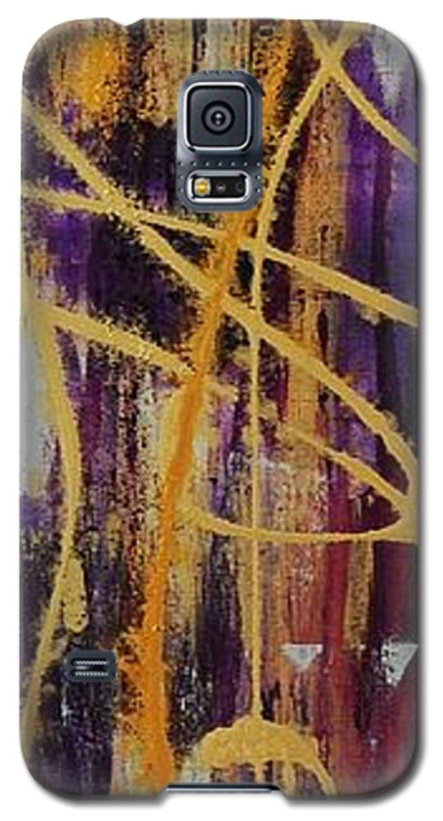 Abstract Galaxy S5 Case featuring the painting Urban Royality by Lauren Luna
