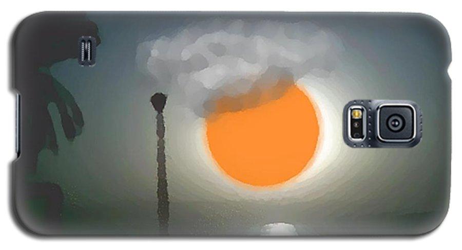 Urban.sea.sunset.sky.sun.water Sun Reflection.coast. Galaxy S5 Case featuring the digital art Urban Sea Sunset by Dr Loifer Vladimir