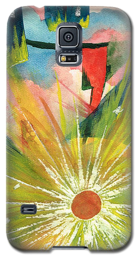 Downtown Galaxy S5 Case featuring the painting Urban Sunburst by Andrew Gillette