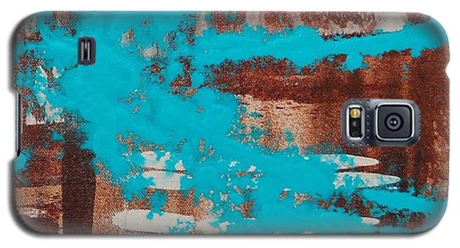 Urban Galaxy S5 Case featuring the painting Urbanesque II by Lauren Luna