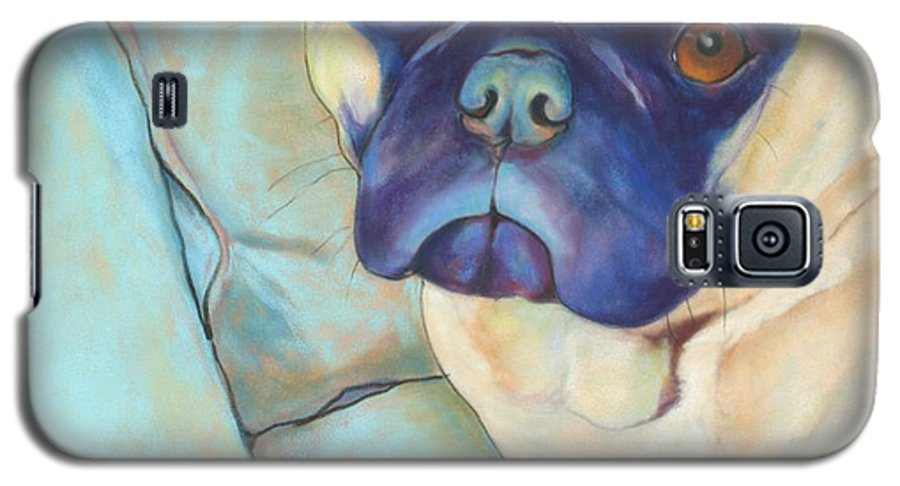 Pug Galaxy S5 Case featuring the pastel Valentino by Pat Saunders-White