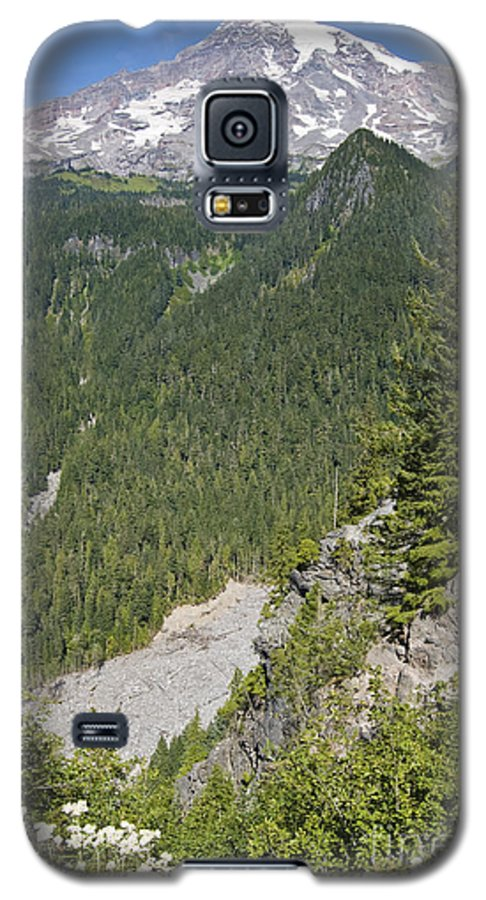Mt. Rainier Galaxy S5 Case featuring the photograph Valley View Of Mt. Rainier by Larry Keahey