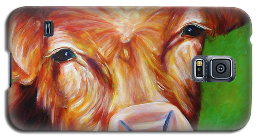 Bull Galaxy S5 Case featuring the painting Van by Shannon Grissom