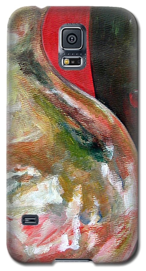 Still Life Galaxy S5 Case featuring the painting Vase by Muriel Dolemieux