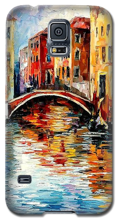Landscape Galaxy S5 Case featuring the painting Venice by Leonid Afremov