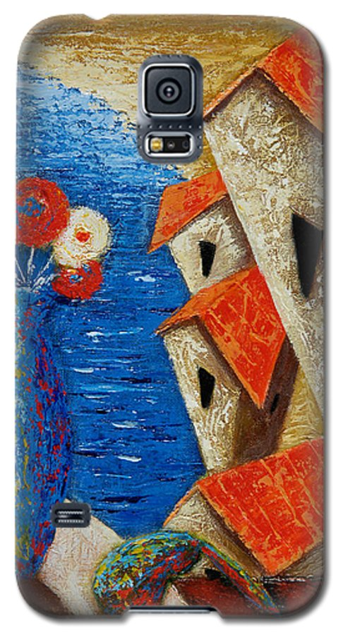 Landscape Galaxy S5 Case featuring the painting Ventana Al Mar by Oscar Ortiz