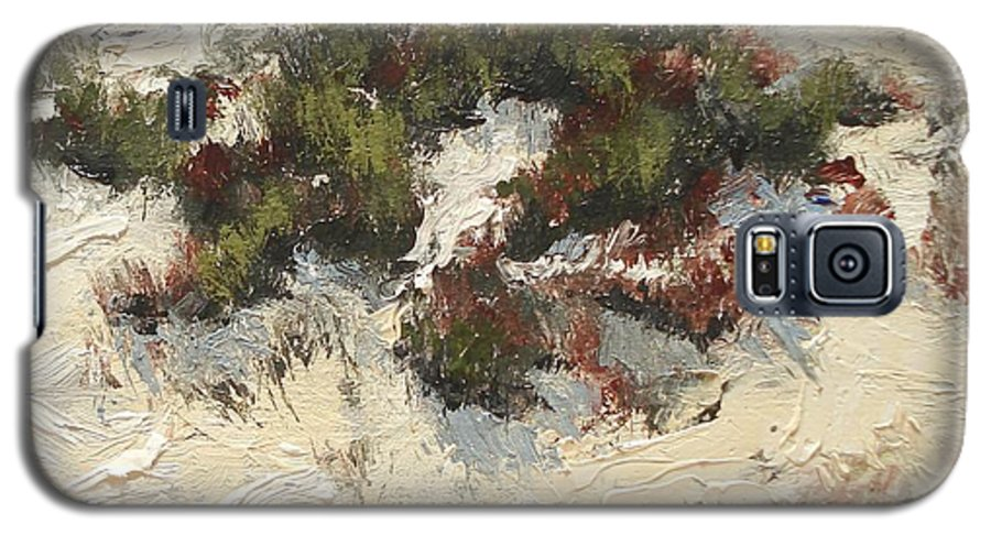 Water Galaxy S5 Case featuring the painting Ventura Dunes I by Barbara Andolsek