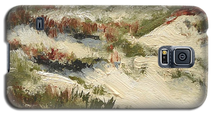 Water Galaxy S5 Case featuring the painting Ventura Dunes II by Barbara Andolsek
