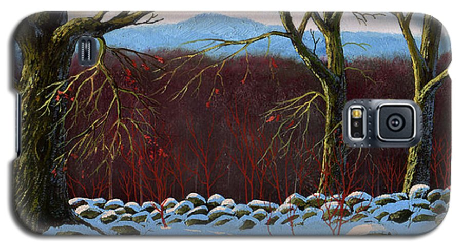 Landscape Galaxy S5 Case featuring the painting Vermont Stone Wall by Frank Wilson