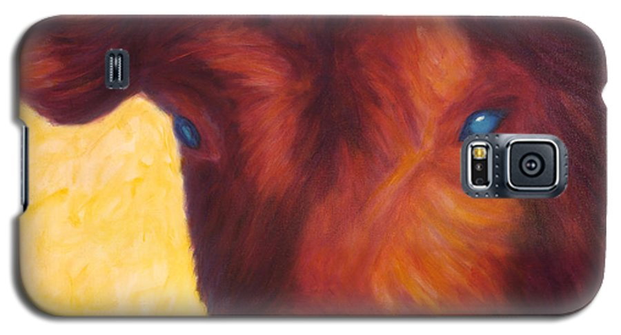 Bull Galaxy S5 Case featuring the painting Vern by Shannon Grissom