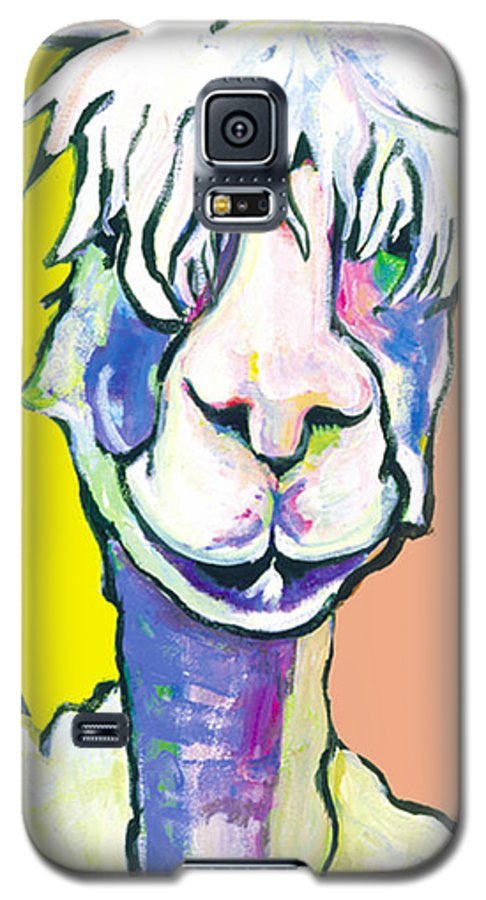 Mountain Animal Galaxy S5 Case featuring the painting Veronica by Pat Saunders-White