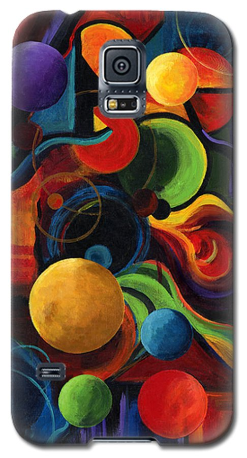 Synergy Galaxy S5 Case featuring the painting Vertical Synergy by Laura Swink