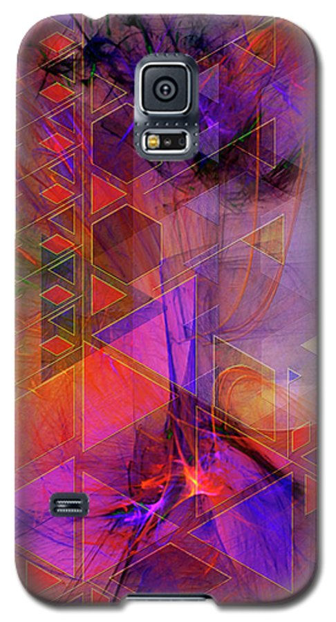 Vibrant Echoes Galaxy S5 Case featuring the digital art Vibrant Echoes by John Beck