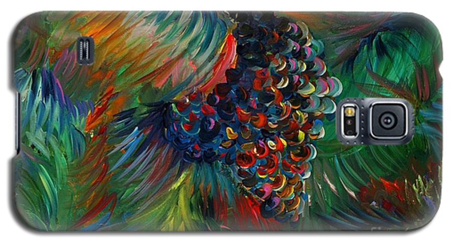 Grapes Galaxy S5 Case featuring the painting Vibrant Grapes by Nadine Rippelmeyer