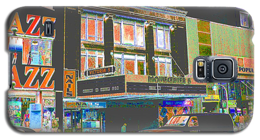 Harlem Galaxy S5 Case featuring the photograph Victoria Theater 125th St Nyc by Steven Huszar