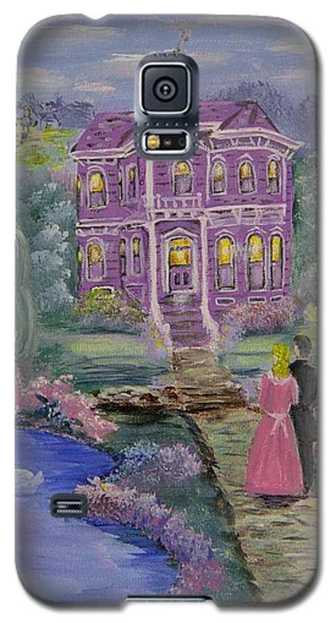 Victorian Galaxy S5 Case featuring the painting Victorian Romance 1 by Quwatha Valentine