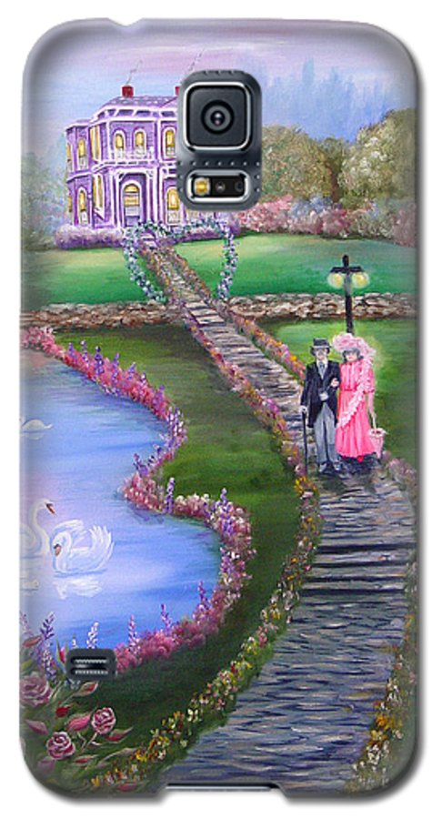 Victorian Galaxy S5 Case featuring the painting Victorian Romance 2 by Quwatha Valentine