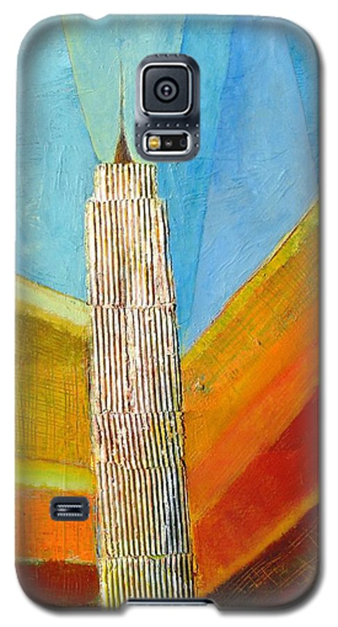 Abstract Cityscape Galaxy S5 Case featuring the painting View From 34th St by Habib Ayat