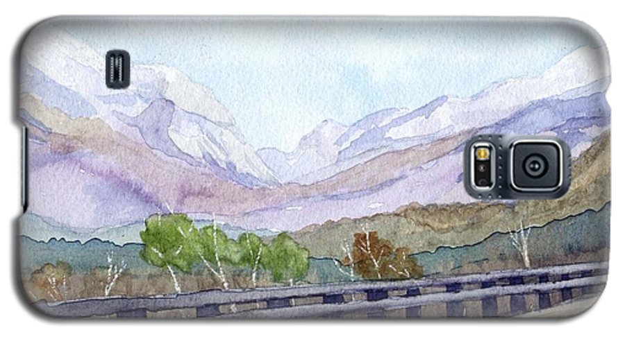 Franconia Notch Galaxy S5 Case featuring the painting View Of Franconia Notch by Sharon E Allen