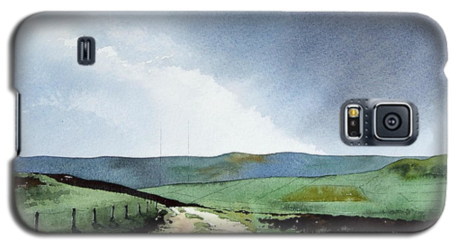 Landscape Galaxy S5 Case featuring the painting View Over Pole Moor by Paul Dene Marlor