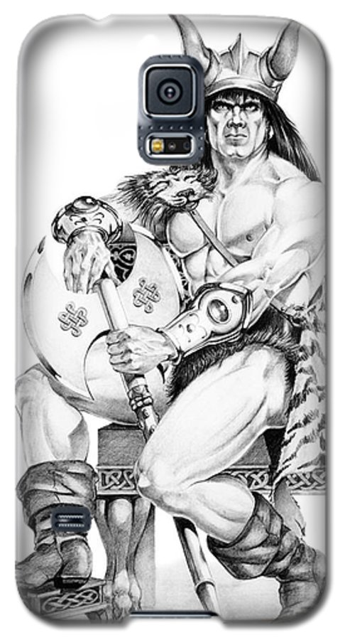 Viking Galaxy S5 Case featuring the painting Viking Warrior by Melissa A Benson